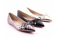 New style comfortable  bowtie sexy  pointed toe shallow mouth flats  Big yards Women's shoes size;35-41