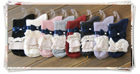 gift! 20prs mix colours ladies womens girls soft lace top trim trimmed frilly fancy rib design women's lace socks free shipping