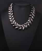 2014 New Trendy Fashion za Brand Big Mental Clain Color Good Quality Vintage Shourouk Necklace Women 9220