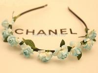 free shipping Bohemian hair band sky blue wind beach jewelry wholesale flower hair hoop headband hair accessories head