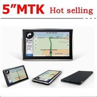 "New 2014 Free shipping 5"" gps navigation Car GPS Navigator HD Screen with Bluetooth 4GB memorey load lastest maps DDR 128MB"