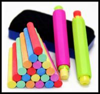 60pcs dusless chalk 2pcs Chalk holder Pen 1pcs Board Eraser Kid Color non-dust Chalk Set Children's teacher's day gift