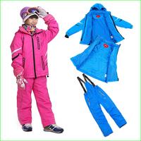 KS02S winter Children Ski Suit Set children Winter Sports suits waterproof kids jacket +vest+pants via EMS