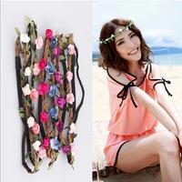 Hot Sale New Fashion Bohemia Beach Flower Hair Bands Headband Hair Accessory 8 Colors Drop Shipping Headwear 140910
