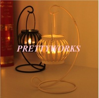 Free Shipping new Metal Wrought Iron Pillar Pumpkin Light Candle Holder Stand candlestick For Weddings Table Decoration F-0191