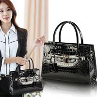 Black bags 2014 for Crocodile women's handbag female shoulder bag cross-body bag small fashion work bag