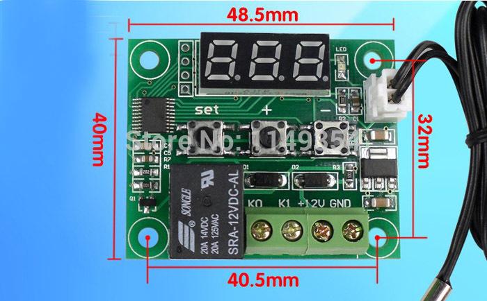 Прибор для измерения температуры OEM 2 X DC 12V прибор для измерения температуры oem 2015 lcd c0379