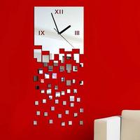 New MOSAIC Pattern Sticker DIY Mirror Wall Clock Wall Sticker Home Decoration Tonsee
