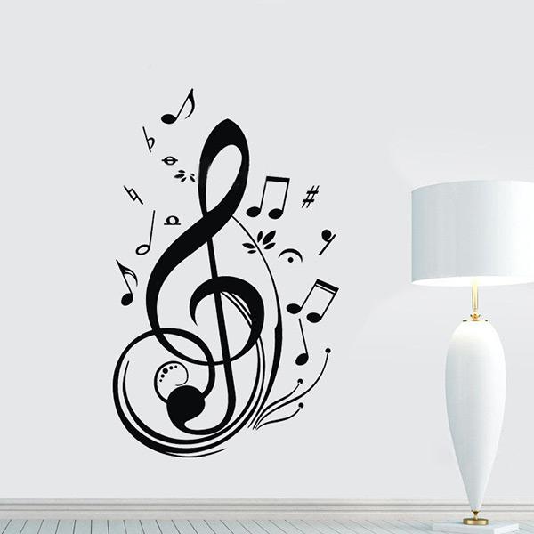 Online kopen Wholesale muziek noten Muursticker uit China muziek noten ...