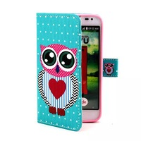 10pcs/lot Various Owl Flower Pattern Wallet Flip Stand Leather Case Cover Skin For LG Optimus L70 D325 D320
