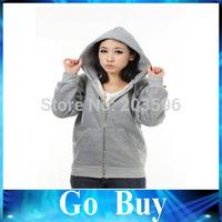 Free shipping 610259 Casual Womens Back Angel Wings Fleece Hoodie Zip Up Sweatshirt Coat Jacket