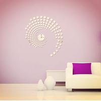 New Modern Peacock Dot Sticker DIY Mirror Wall Clock Wall  Tonsee