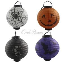 4Pcs/lot Halloween Decorations LED Pumpkins Lantern Lamp Skeletons Spid