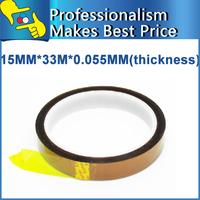 Free Shipping 3PCS/Lot BGA Tape 15MM*33M*0.055mm High Temperature Resistant Tape Heat Tape