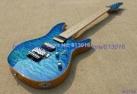 Wholesale - Custom Shop Suh gutiar electric guitar,luxury quilt flame on body,see thru yellow guitar back,floyd Rose tremolo!