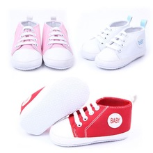 New hot Sale Brand New Cute Infant Comfortable Toddler Baby Boy Girl Soft Shoes Sneaker Canvas