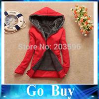 Free shipping 610261 women's fleece fashion plus velvet long-sleeve cardigan female Ladies outwear coat