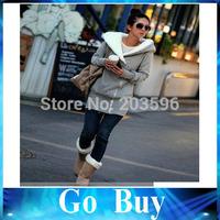 Free shipping 610260 Casual Womens Back Angel Wings Fleece Hoodie Zip Up Sweatshirt Coat Jacket