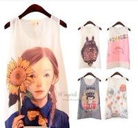 New Fashion2014 summer cartoon printed vest SH069317