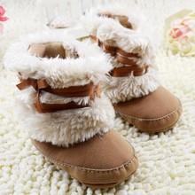 warm mädchen winter kleinkind stiefel mit Schmetterling- Knoten anti- Rutsch schuhe versandkostenfrei& tropfenverschiffen(China (Mainland))