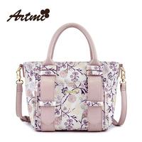 Artmi2014 sweet flower color block the trend of fashionable casual women's handbag