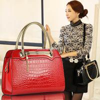 2014 Crocodile women's handbag shoulder bag handbag cross-body bag free shipping