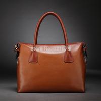 Fashion 2014 first layer of cowhide women's handbag messenger bag vintage women's fashion genuine leather handbag big bag