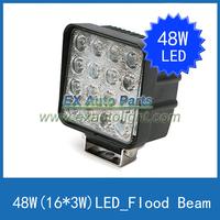 2PCS X 48W Flood Beam LED Work Light SUV/ATV/Off-road/Truck/4WD Car LED Driving DRL Light Fog Lamp Free Shipping