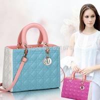 Summer bags female small cross-body bag 2014 purple star bag color block women's patchwork handbag shoulder bag