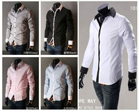 New Arrival Men's Long-sleeve Shirts Turn -down Collar Casual Slim Fit Shirts For Men