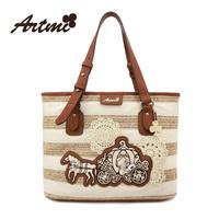 For ar tmi2014 knitted the trend of fashion one shoulder handbag women's handbag sweet stripe