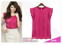 New Fashion2014 new women loose chiffon shirt sk062326