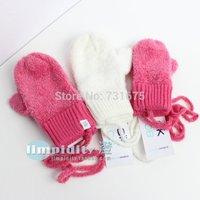 2014 winter child baby mitten female child ultra soft halter-neck gloves