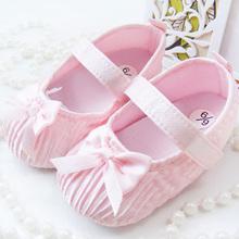Lovely Baby Girls Toddler Newborns Damask Bowknot Soft Crib Shoes Non Slip Shoe Free shiping & Drop shipping(China (Mainland))