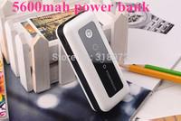 5600mAh Smart Portable Backup Battery External Power Bank Charger For Universal Mobile Phone,camera,Mp3/4 playe ETC 300sets/lot
