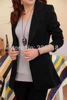 2014 Hitz Korean Women Slim small suit long section of a small button suit jacket leisure suit female