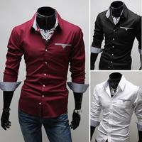 2014 New Arrival men's shirts Slim fit stylish Dress long Sleeve Shirts Casual
