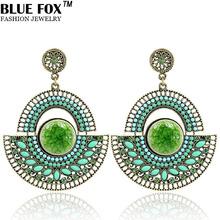 Exquisite Ceramic Mosaic Earrings Semicircle Size Gradient Swing Dangle Drop Big Earrings For Women BF-E015(China (Mainland))
