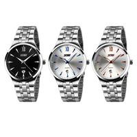 New Stainless Steel Band Luxury Sport Analog Quartz Clock Mens Wrist Watch Tonsee
