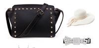 Famous Brand Hot Sale Fashion Rivet Leather Casual Design Women Messenger Bags Shoulder Bag Party Bags Bolsas De Marca