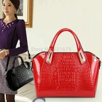 2014 female handbag shoulder bag messenger bag fashion handbag for Crocodile women's red bridal bag marry bag