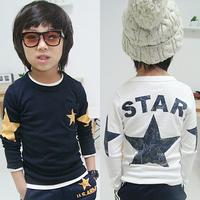 Free shipping 2014 autumn pentastar boys clothing girls clothing baby child long-sleeve T-shirt tx-1551 basic shirt