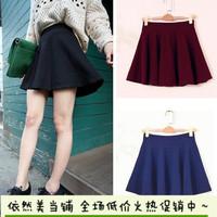 2014 autumn and winter in Europe and America retro wild sun dress big skirt waist high waist skirts short