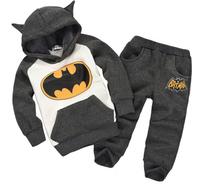 Retail New Fashion brands  Children Outfits Tracksuit Batman Clothing Children Hoodies + Kids Pants Sport Suit Boys Clothing Set