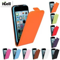 Genuine Leather Case For iphone 5C , Flip Real Leather Cover For Iphone5C ,MOQ:1PCS free shipping