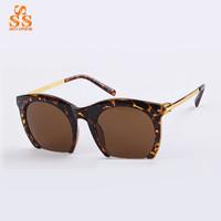 2014 New Arrival Classic Design Large Size Half Frame Sunglasses,Lady Retro Fashion Sun Glasses,Trendsetter Cat Eye Sunwear G351