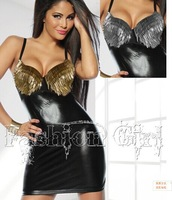 free shipping hot selling 2014 new fashion sexy leather club dress and party dress club wear Z217304