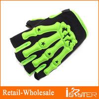 Super Cool Sports wear Motorcycle Gloves Half Finger Rubber Bone Shape Taped