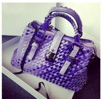 2014 New Hot Sale Ladies Woven Handbags Messenger Bag Shoulder Bags Fashion Unique Tote Designer  For Women