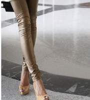 Free shipping Faux Leather Leggings for women Lady leggins pants New sexy Fashion 2014 wholesale leggings women